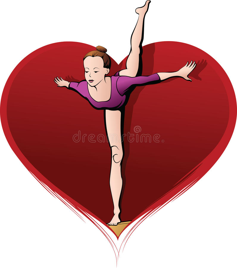 Download Beam Gymnast in Heart stock photo. Image of coordination - 30852964