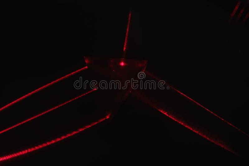 Beam laser research science light,  energy royalty free stock photography