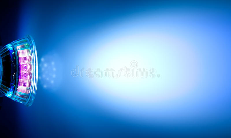 Beam Of Led Lamp Stock Image