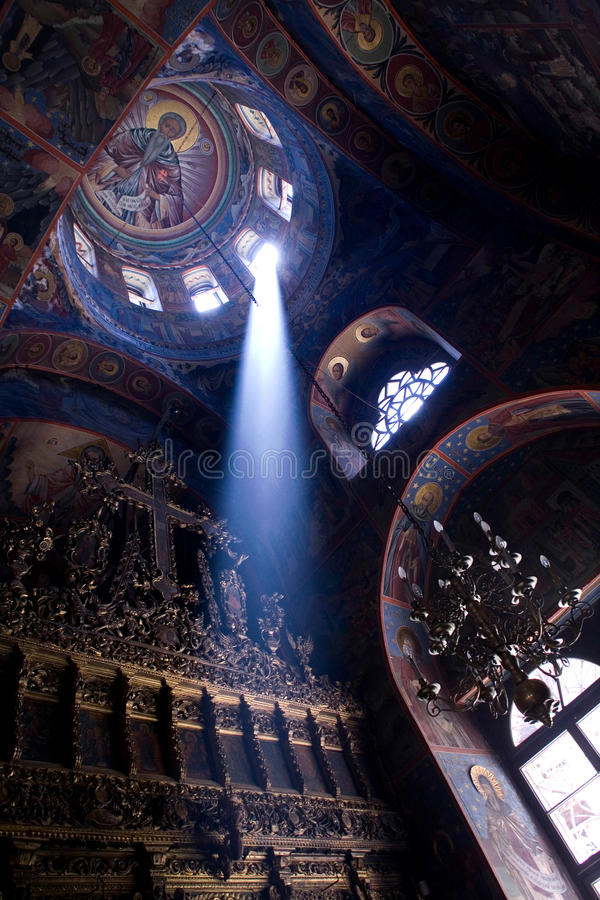 Beam of light in church