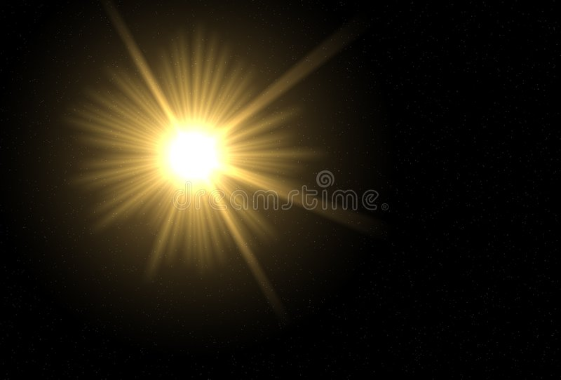 Beaming Sun vector illustration