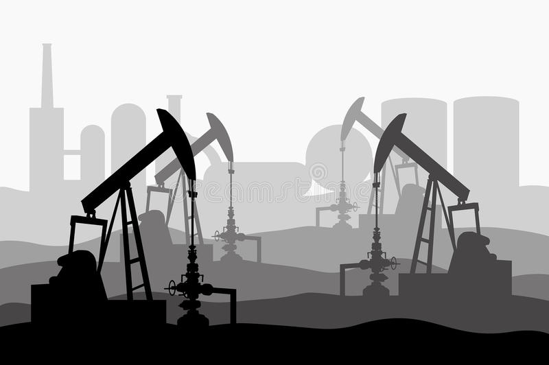 BeamPump. Beam Pump oil and gas stock illustration