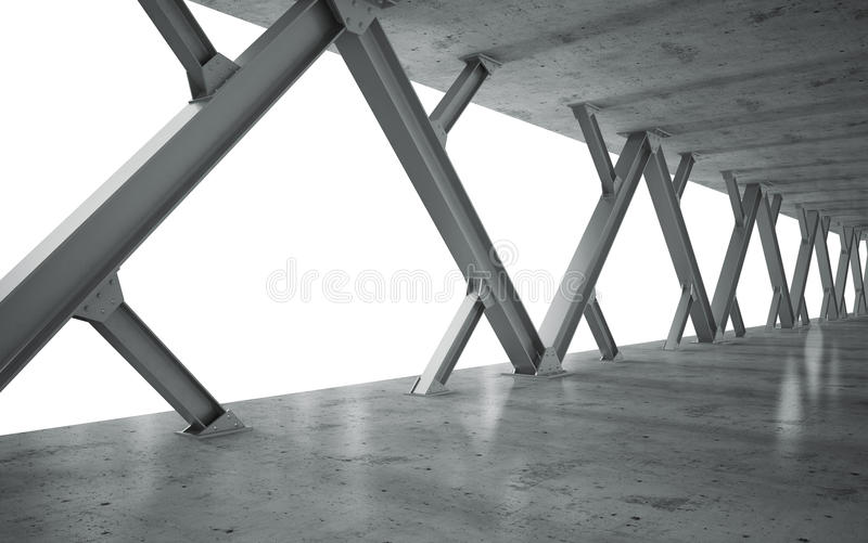 Download Beams And Concrete Structure Stock Illustration - Image: 26519943