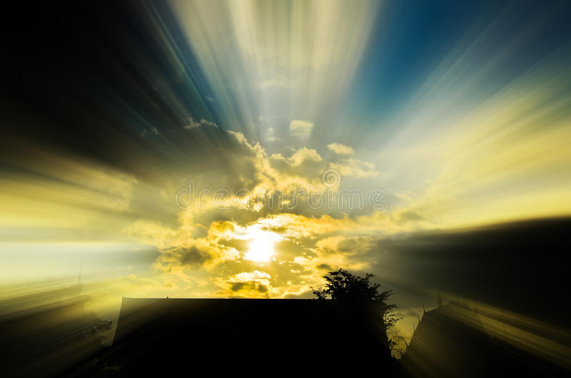 Beams of the morning stock image