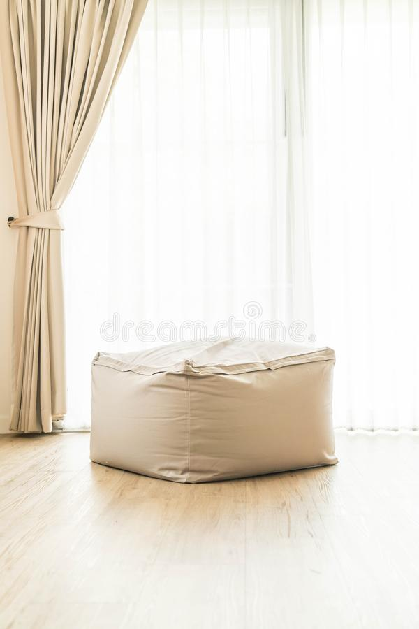 Bean bag chair. Decoration at home stock photo