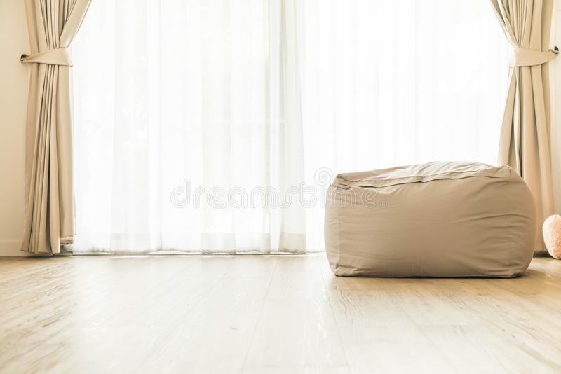 Bean bag chair. Decoration at home stock images