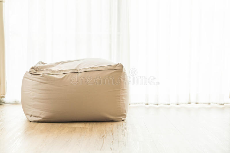 Bean bag chair. Decoration at home royalty free stock images