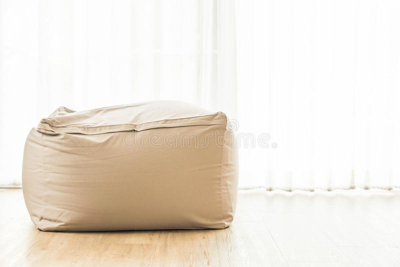 Bean bag chair. Decoration at home royalty free stock photography
