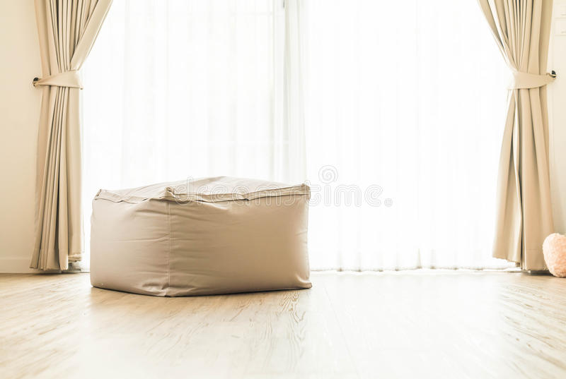 Bean bag chair. Decoration at home royalty free stock photos