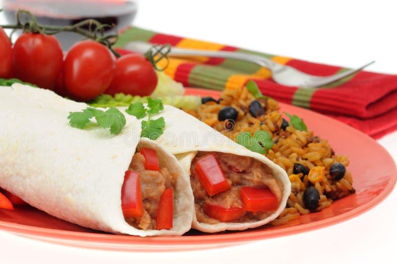 Bean Burrito stock photography