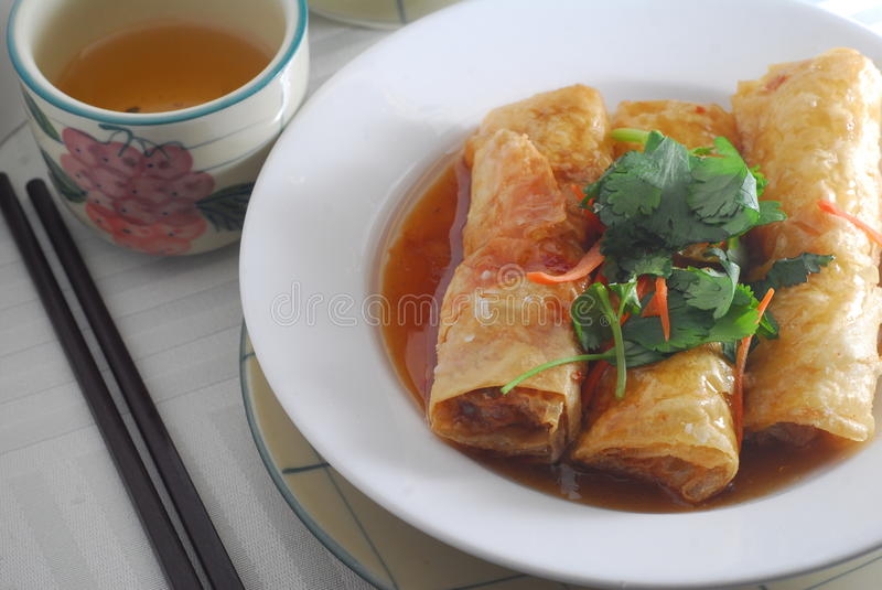 Download Bean curd roll stock image. Image of chinese, curd, chopstick - 23125147