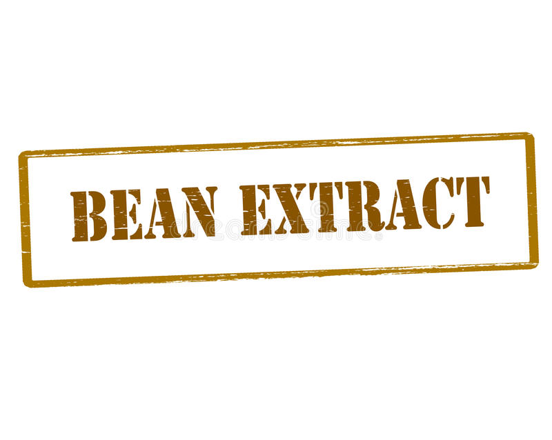 Bean extract. Rubber stamp with text bean extract inside, illustration royalty free illustration