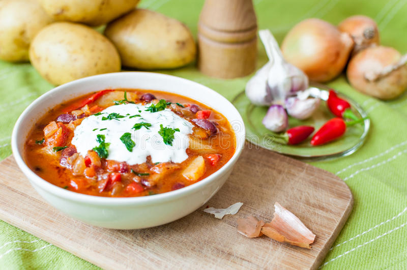 Bean goulash. stock photo