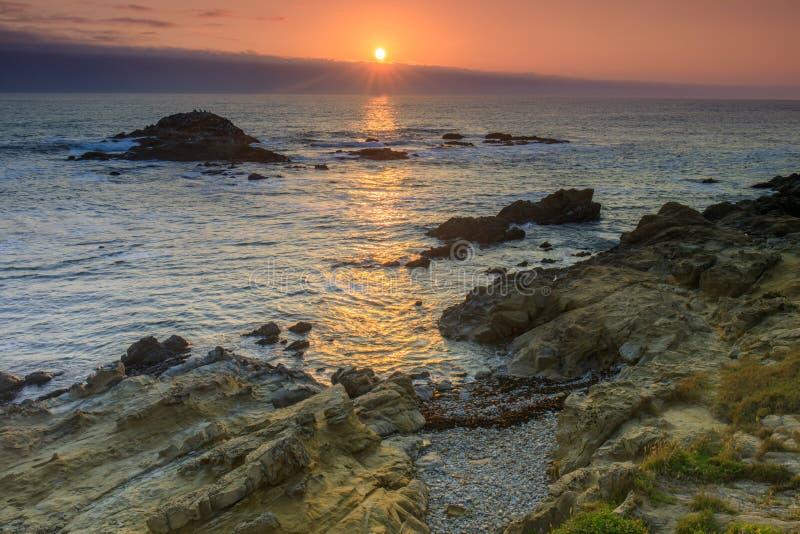 Bean Hollow State Beach Sunset stock foto's