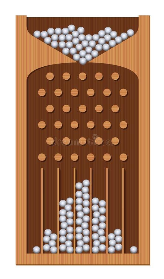 Bean Machine Galton Board Wooden-Textuur vector illustratie