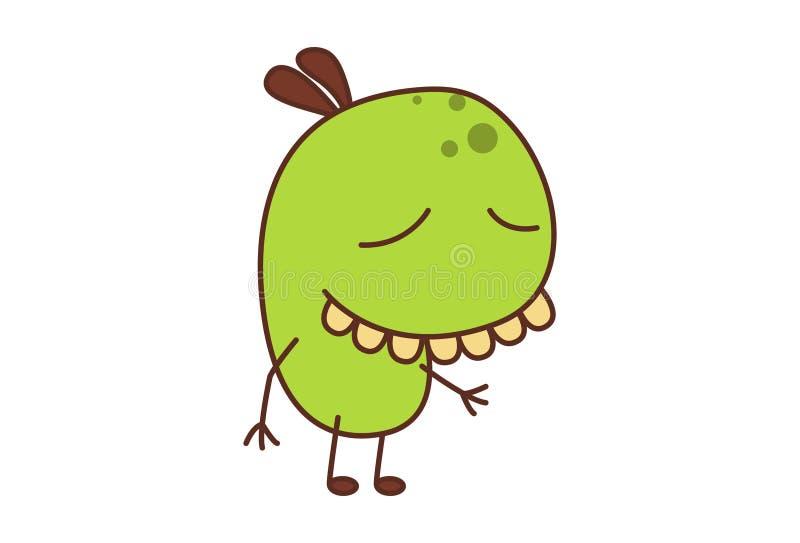 Bean Monster illustrazione vettoriale