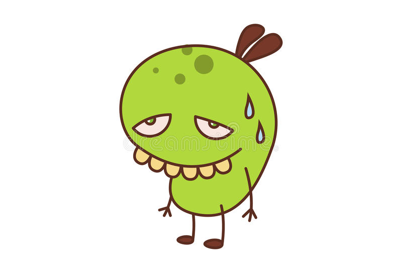 Bean Monster illustrazione di stock