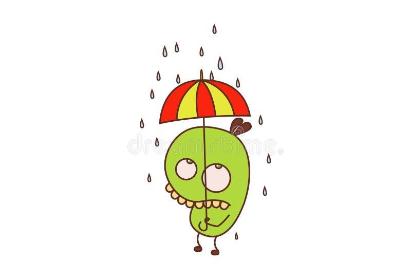 Bean Monster royalty illustrazione gratis