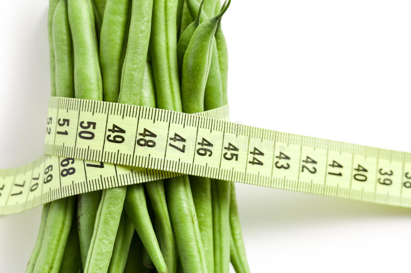 Download Bean Pods With Measuring Tape Royalty Free Stock Images - Image: 17361129