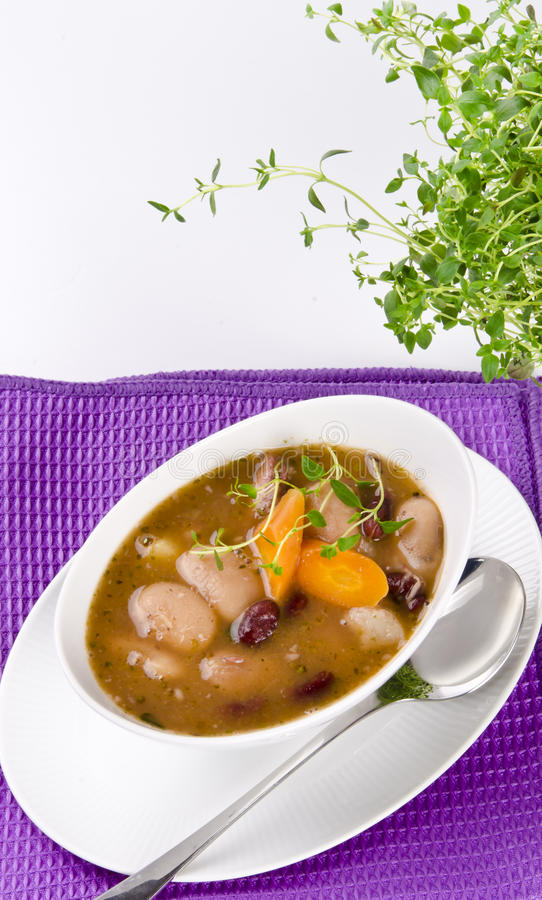 Download Bean soup stock image. Image of fruit, meat, kitchen - 22424655