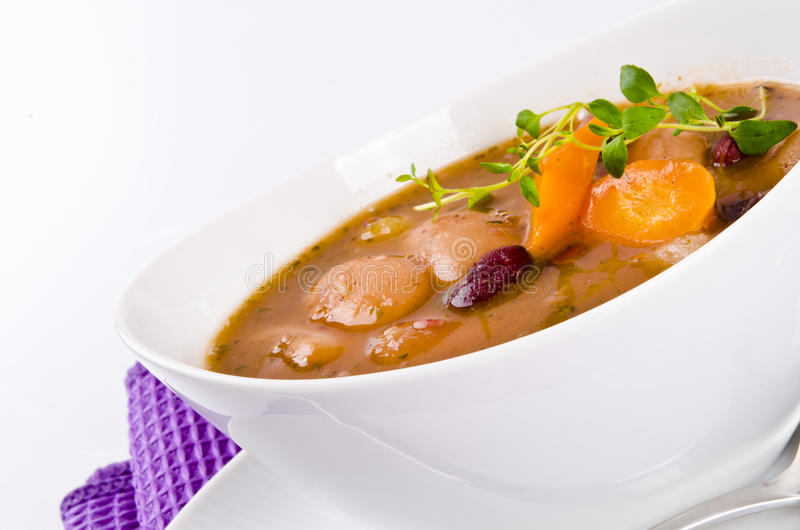 Download Bean soup stock image. Image of meal, beverage, closeup - 22424659