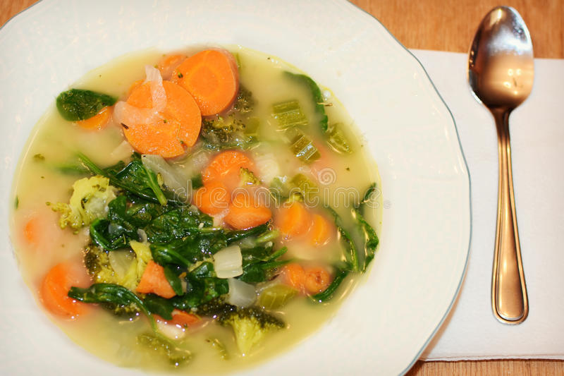 Bean Soup di verdure fotografia stock libera da diritti