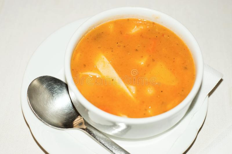 Bean soup with noodle royalty free stock photography
