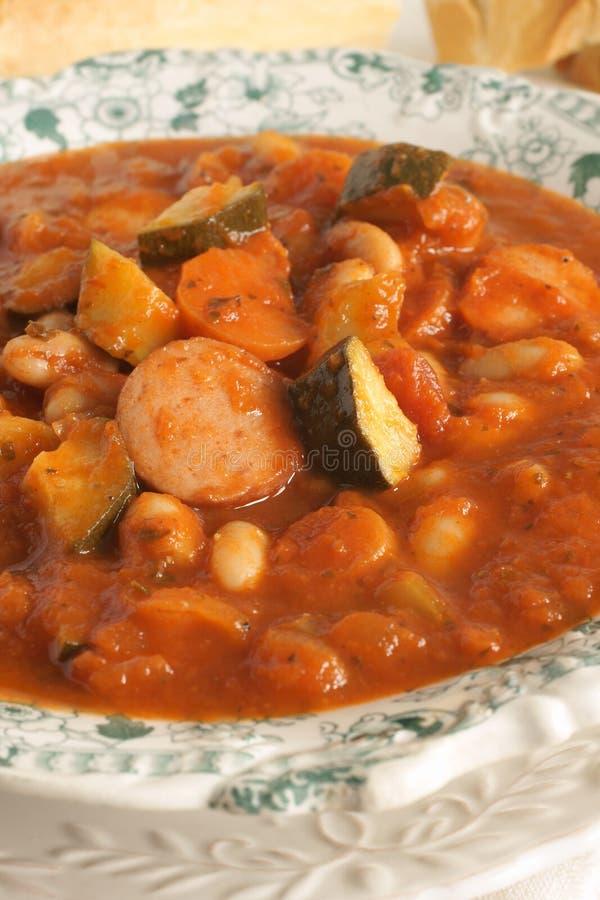 Bean Soup toscano fotografia stock