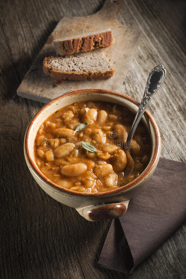 Bean stew royalty free stock photography