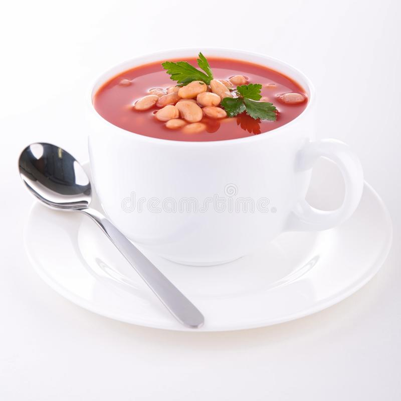 Bean and tomato soup royalty free stock images