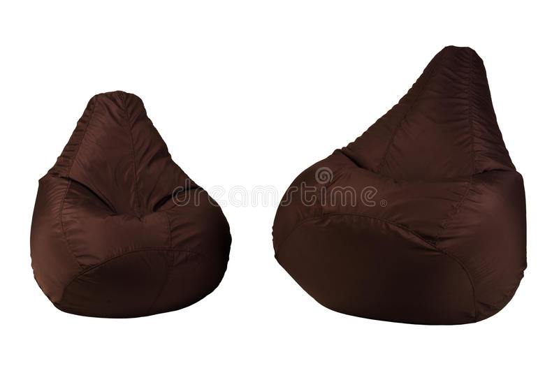 Beanbags flexíveis e ajustáveis do assento isolados no fundo branco foto de stock