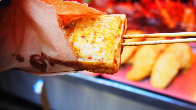 Beancurd hediondo picante con la salsa en Taiwán fotos de archivo