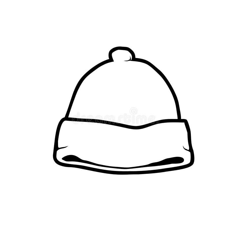Beanie kapelusz royalty ilustracja