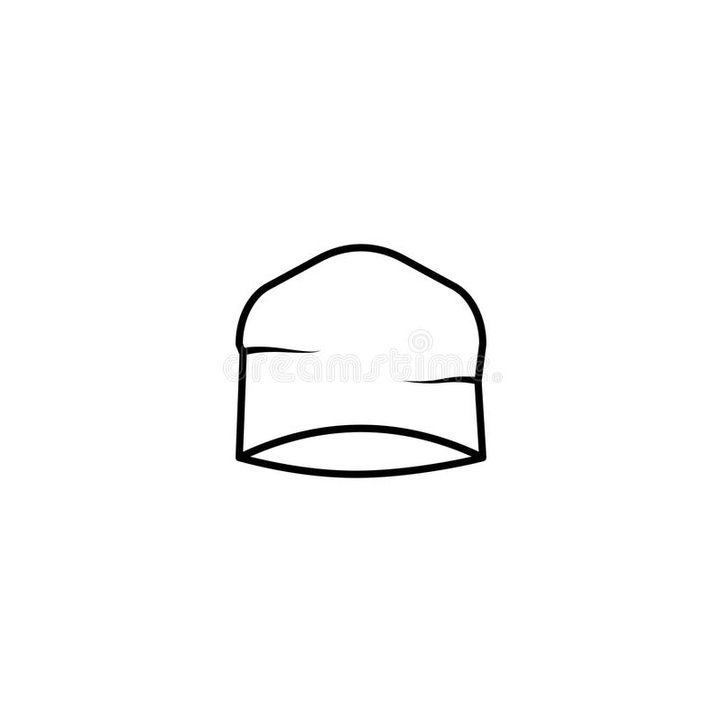 Beanie kapeluszu ikona ilustracja wektor