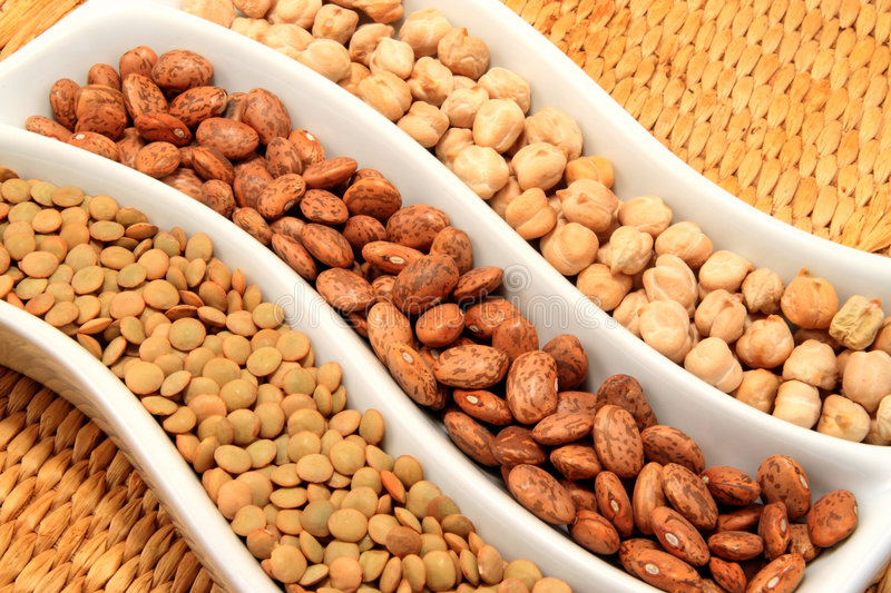 Download Beans stock photo. Image of brown, chickpea, morning, lentil - 4036052