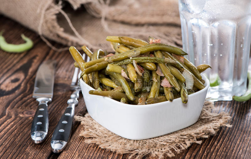 Beans with Bacon stock photos