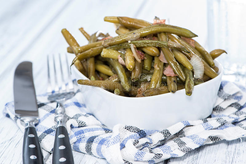 Beans with Bacon stock image