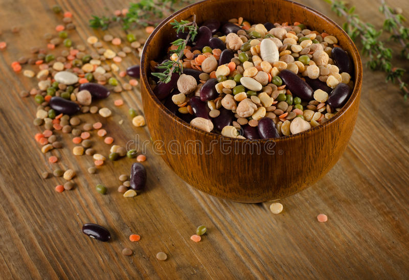 Beans, chickpeas and lentils royalty free stock photography