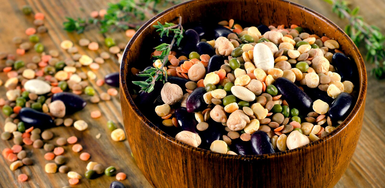 Beans, chickpeas and lentils stock photos