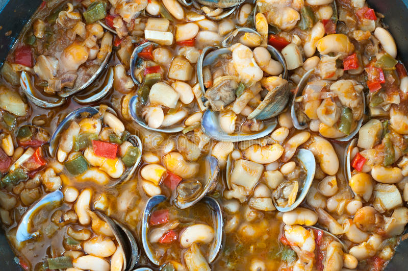 Beans with Clams stock images