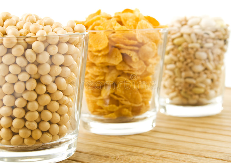 Beans and flakes royalty free stock photo