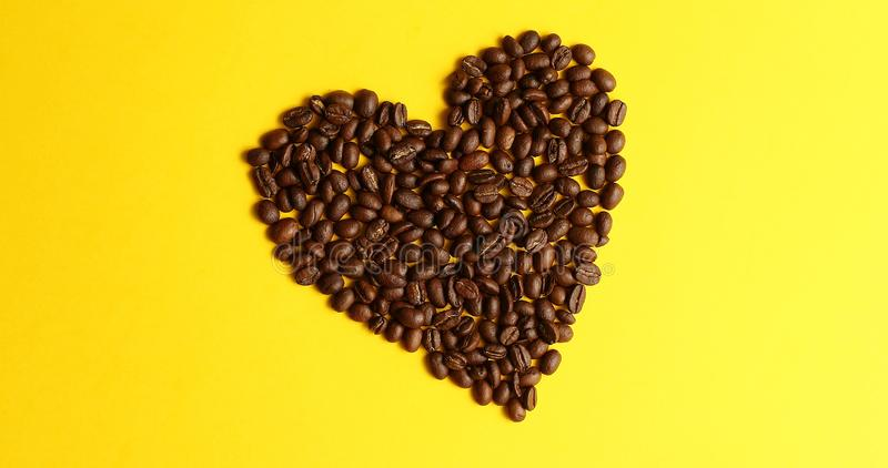 Beans laid in shape of heart stock photo