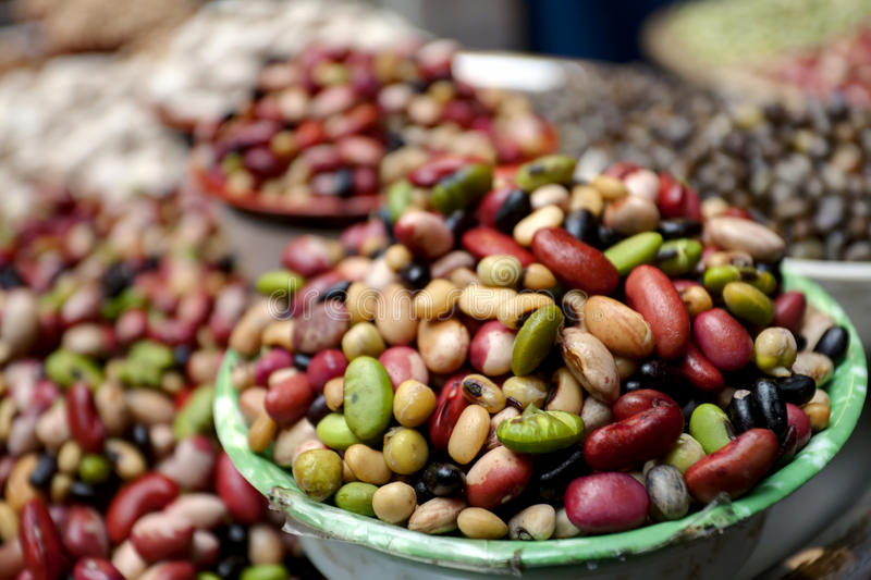 Beans and lentils. Group of beans and lentils royalty free stock photos