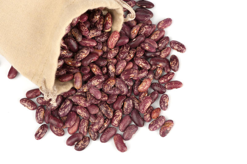 Download Beans in a linen bag stock image. Image of group, agriculture - 24322185