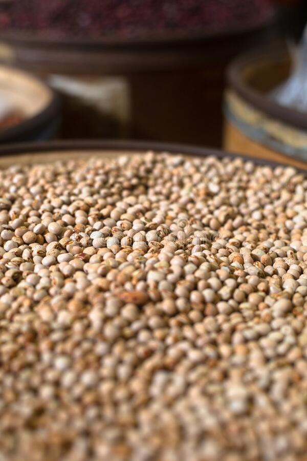 Beans photo at Merca Panama in Panamá city. Bena market in merca panama city, the most important market in the city stock image