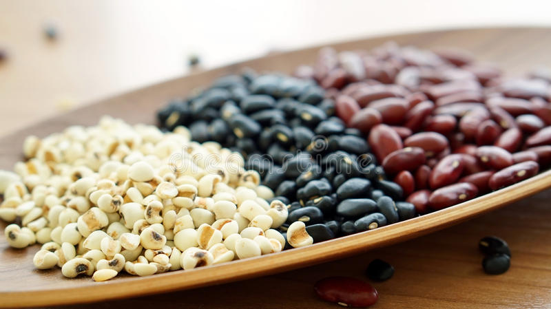 Beans red black and job's tear multigrain protien food. Beans red black and job's tear multi grain protien food stock photo