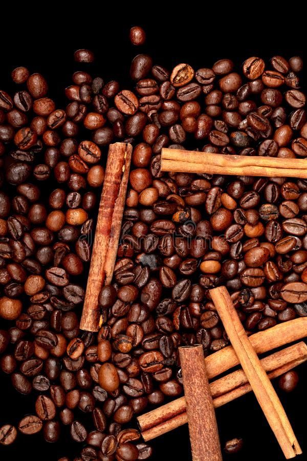 Dark Roasted Coffee Beans Caffeine Brown Espresso Wallpaper Close Up. Fried Coffee Beans Texture ...