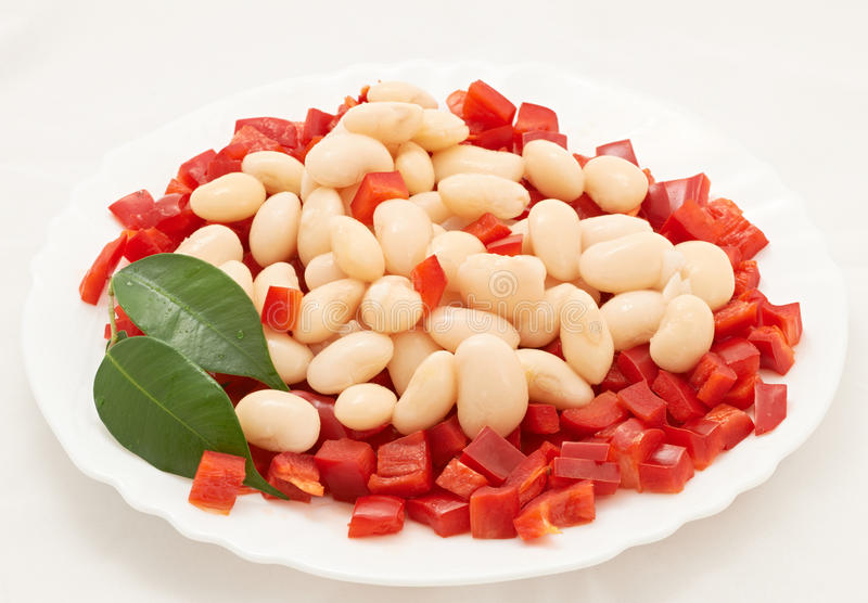 Beans salad royalty free stock images