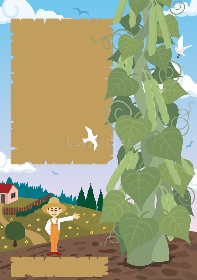 Beanstalk ilustração stock