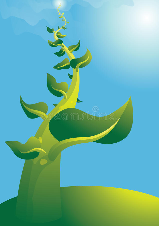 Beanstalk2 illustration stock